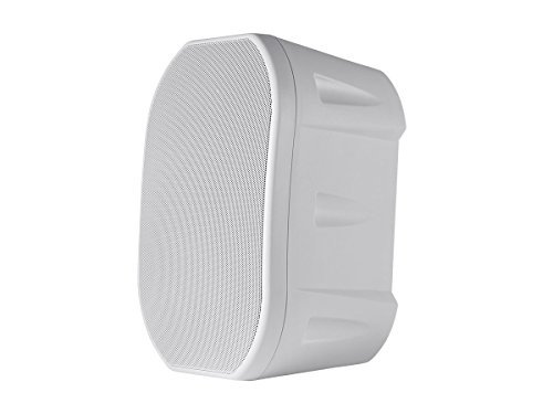 Monoprice 6.5-inch Weatherproof 2-Way Speakers with Wall Mount Bracket (Pair White) - (113615) [並行輸入品]   B078FW7PBN
