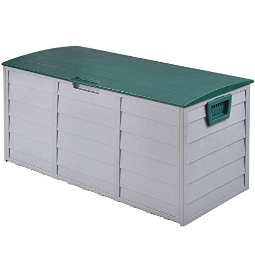 Storage Box Outdoor Patio Garage Shed Tool Bench Container 70 Gallon 44'' by White Bear & Brown Rabbit