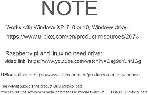 USB GPS Module Ublox Vk-172 Glonass Navigation, Works for