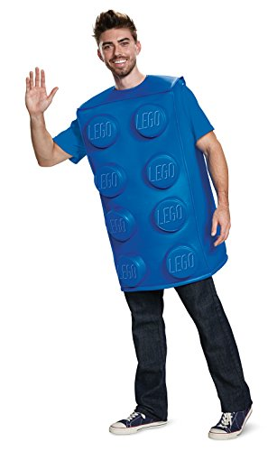 Disguise Unisex Blue Brick Adult Costume, M/L