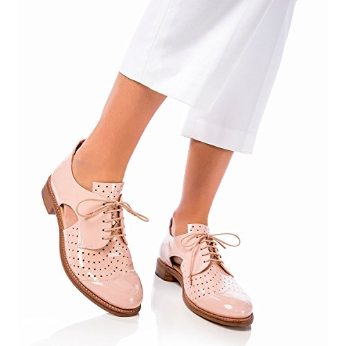 The Office of Angela Scott Mr. Muffin Nude Patent Cutout Oxford Nude Patent cVgPlqYfz