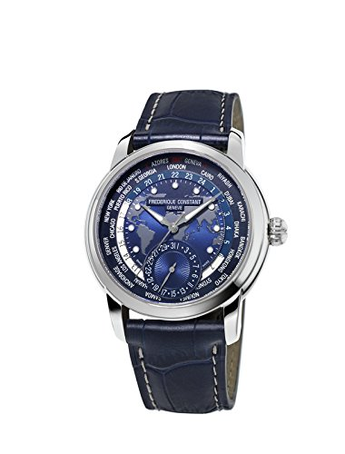 Frederique Constant Men's FC718NWM4H6 Worldtimer Automatic Watch With Blue Leather Band - 41s673dzouL - Frederique Constant Men's FC718NWM4H6 Worldtimer Automatic Watch With Blue Leather Band