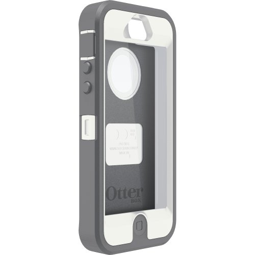 OtterBox Defender Series Case for iPhone 5 (Discontinued by Manufacturer)( Not for iPhone 5C ) Retail Packaging - White/Gray