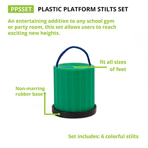 Champion Sports Platform Kid Stilts: Classic Kids Party, Birthday, and Picnic Game Set by Champion Sports (Image #2)