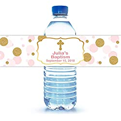"100 Personalized Baptism Water Bottle Labels 8""X2"""