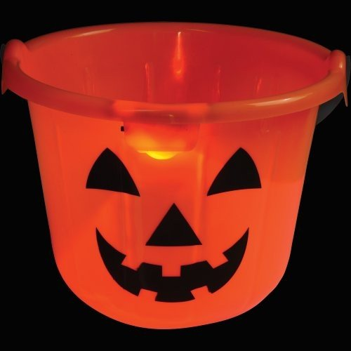 n Light Up Pumpkin Pail/Jack O Lantern Bucket Candy Bucket Pumpkin Bucket ()