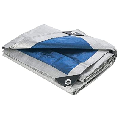 "Maxam 10' x 12' All-Purpose Tarp (Hemmed Size 9'4"" x 11'6"") - Waterproof Tarp Patio - .com"