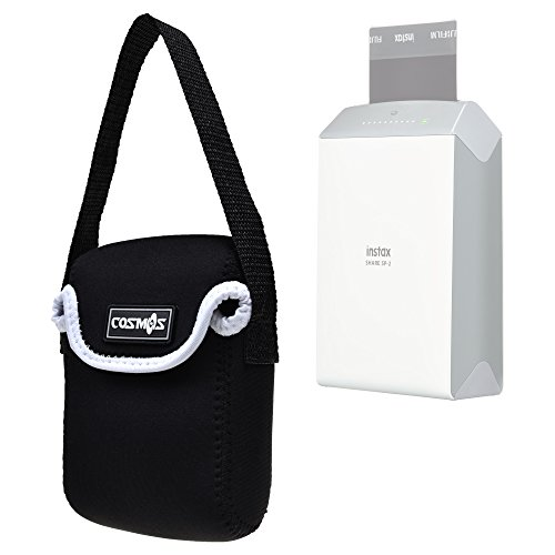 Cosmos Neoprene Protection Carrying Travel Case Bag For Instax Share Sp 2 Smart Phone Printer  Black