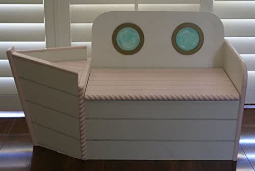 Kids Storage Bench Furniture Toy Box Bedroom Playroom: Amazon.com: Pink Boat Toy Chest, Boat Shaped Toy Box, Kids