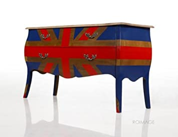 Commode Baroque Drapeau Anglais Meuble Design Union Amazon Fr