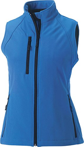 Russell Collection Chaleco de Softshell para mujer con cremallera sin mangas chaleco chaleco Cactus Green