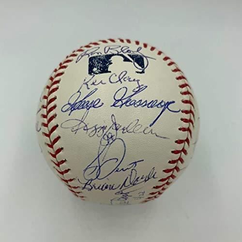 1978 New York Yankees World Series Champs Team Signed MLB Baseball JSA COA #3/22
