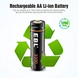 EBL USB Rechargeable AA Lithium Batteries - 1.5V