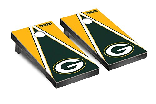 NFL Green Bay Packers Triangle Version Football Corn hole Game Set, One Size by Victory Tailgate