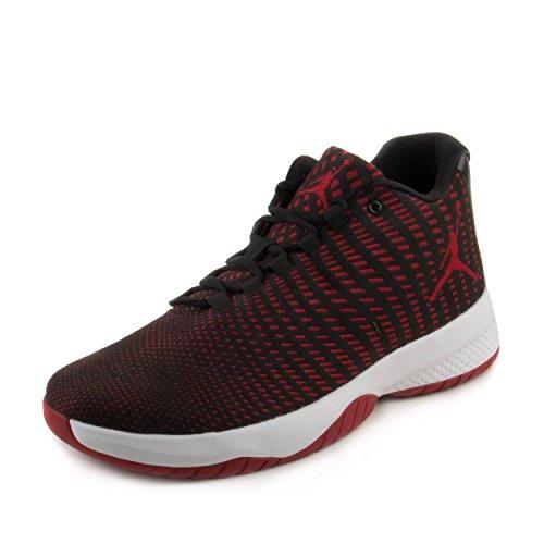 Men's Jordan B. Fly Basketball Shoe Black/Gym Red-Dark Grey-White 8