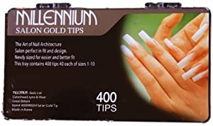 Millennium Nails Salon Gold Tip - MIL400MNS04 by Millennium Nails