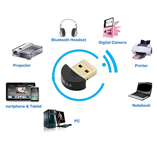 ONETWO®NEW USB Bluetooth 4.0 Low Energy Micro Adapter (Windows 10, 8.1, 8, 7, XP, Raspberry Pi