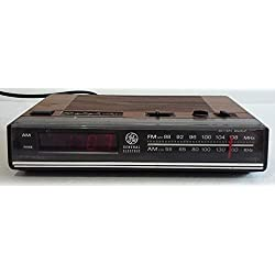 Vintage 80s GE AM/FM Digital Alarm Clock Radio Woodgrain Model 7-4624B WORKS!