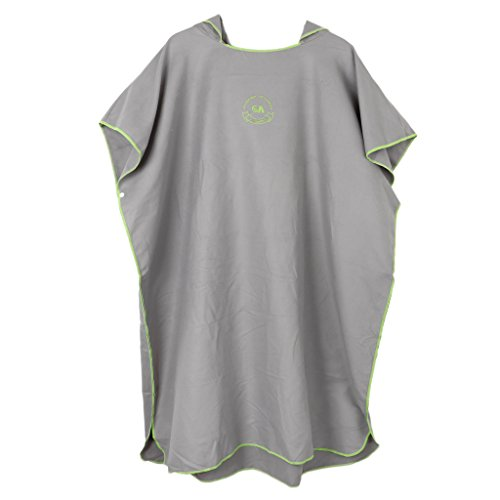 ys Girls Soft Towelling Surf Beach Swimming Poncho Wetsuit Changing Robe - Compact & Lightweight - Gray, 70x70cm ()