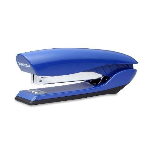 Bostitch Premium Antimicrobial Stand-Up No-Jam Desktop Stapler, Blue (B326-BLUE)