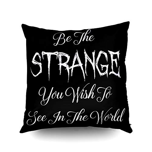 Capsceoll Halloween Goth Punk be The Strange Quote