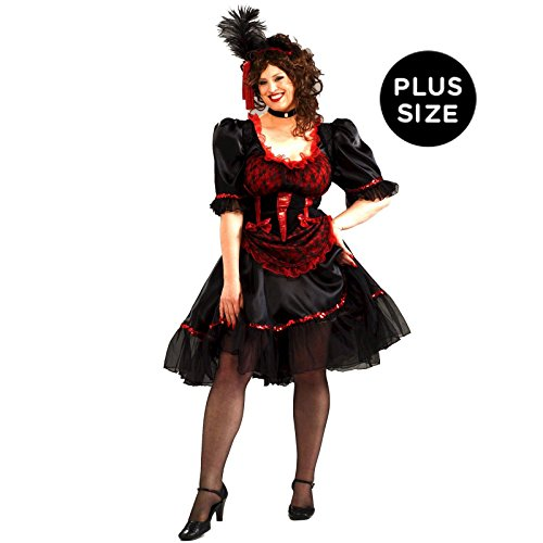 Forum Novelties Plus Size Saloon Girl Costume, Red, (Wild West Saloon Girl)