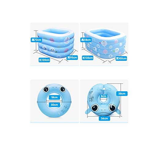 GJFeng Insulation Thickening Baby Swimming Pool Baby Home Swimming Pool Newborn Baby Child Inflatable Swimming tub 120 95 72cm 135 95 58cm (Size : 135cm105cm58cm) by GJFeng (Image #1)