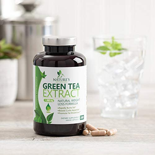 Green Tea Extract 98% Standardized Egcg for Healthy Weight Support 1000mg - Supports Healthy Heart, Metabolism & Energy with Polyphenols - Gentle Caffeine, Made in USA - 240 Capsules 6