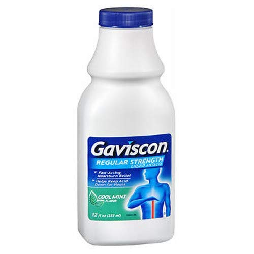Gaviscon Liquid - Gaviscon Liquid Regular Strength Cool Mint Flavor 12 oz (Pack of 2)