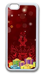 MOKSHOP Adorable Christmas Gifts Season Soft Case Protective Shell Cell Phone Cover For Apple Iphone 6 Plus (5.5 Inch) - TPU White
