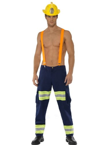 Male Firefighter Adult Costume - Medium