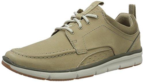 Clarks Herren Orson Bay Sneaker Beige (Sand Nubuck)