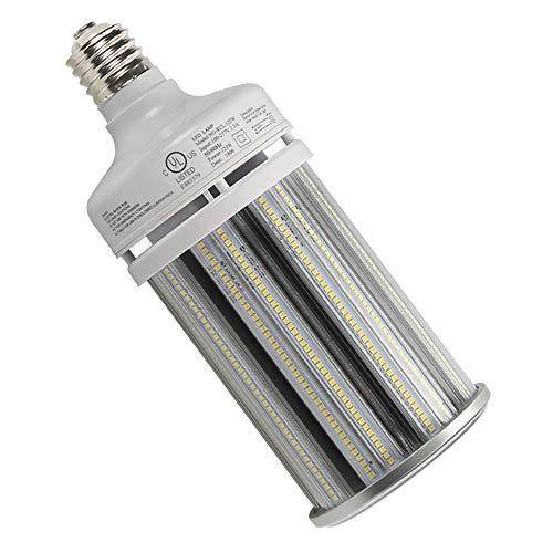 NGTlight 125W LED Corn Bulb Light Replace 400Watt Metal Halide Warehouse High Bay Light,6000K Bright White E39 Mogul Base AC100-277V UL ()