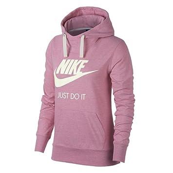 a02b659c1709e Nike 914414-678 Sweat-Shirt à Capuche Femme, Rose Élémentaire/Voile ...