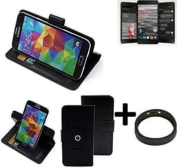 K-S-Trade Top Set: 360° Funda Smartphone para Silent Circle Blackphone 2, Negro + Anillo Protector | Función De Stand Caso Monedero BookStyle Mejor Precio, Mejor Funcionamiento: Amazon.es: Electrónica