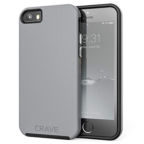 iPhone SE Case, Crave Dual Guard Protection Series Case for iPhone 5 / 5s / SE - Slate (Best Iphone 5s Cases For Protection And Style)