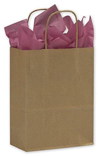 Kraft Paper Shoppers Cub 8 1/4 x 4 1/4 x 10 3/4 (Kraft-8)