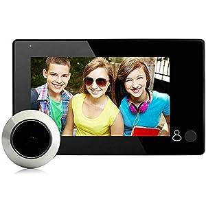 BW 4.3 inch Digital Peephole Viewer Door Eye Doorbell Wireless Home Doorbell 145 Degrees Security Camera for Private