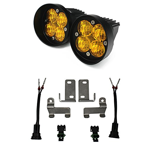 Baja Designs Squadron Sport Amber WC Fog Pocket Light Kit Toyota Tacoma -