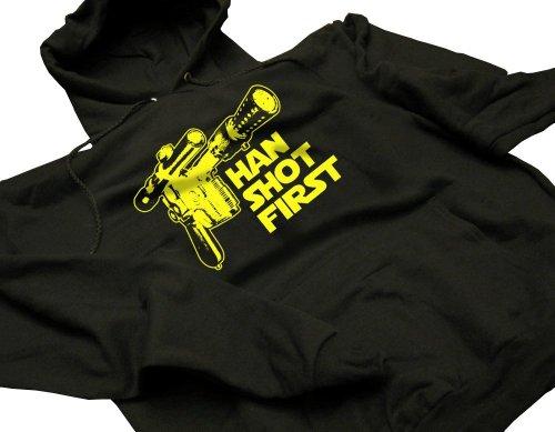 Han Shot First Funny Geek Geekery Nerd Cult Humor Hoodie