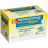 Preparation H Wipes Refill, Medicated, 96 Count (Pack of 2)
