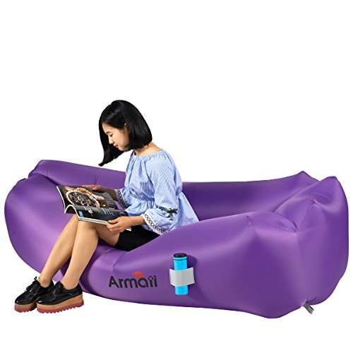 Armati inflatable lounger with carry bag