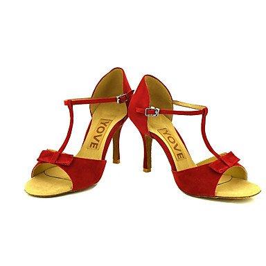 Personalizables Rojo Tacón Personalizado baile Negro Red Latino de Amarillo Zapatos Salsa HI0ngq8