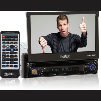 Absolute USA AVH-5100BT In-Dash 7 TFT LCD Touchscreen CD/DVD/MP3 Receiver with Built-In Bluetooth