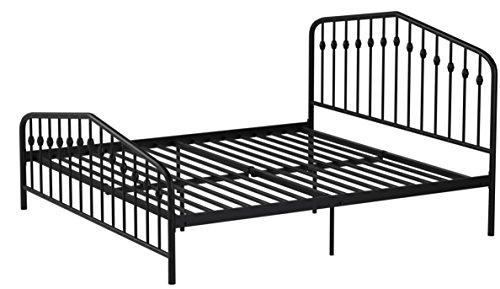 41s6EwuiCDL - Novogratz Bushwick Metal Bed, Modern Design, Full Size - Black