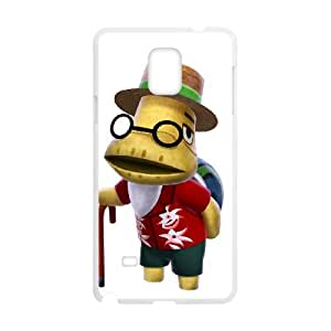 Animal Crossing New Leaf 014 funda Samsung Galaxy Note 4 caja funda del teléfono celular del teléfono celular blanco cubierta de la caja funda EEEXLKNBC28839