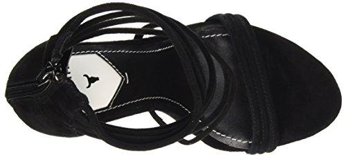 Windsor Smith Catty Suede, Scarpe con Tacco a Punta Aperta Donna nero