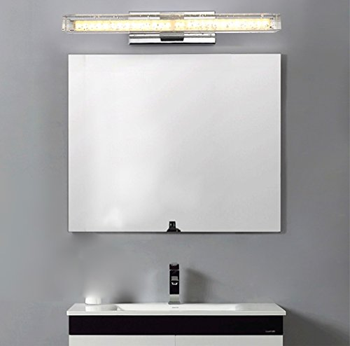 Modern Simple Luxury LED Crystal Mirror Front Light Gold Warm Light 50cm (8 Watts) 70cm (12 Watts) ( Size : 50cm (8 w) ) by SHI XIANG SHOP (Image #4)