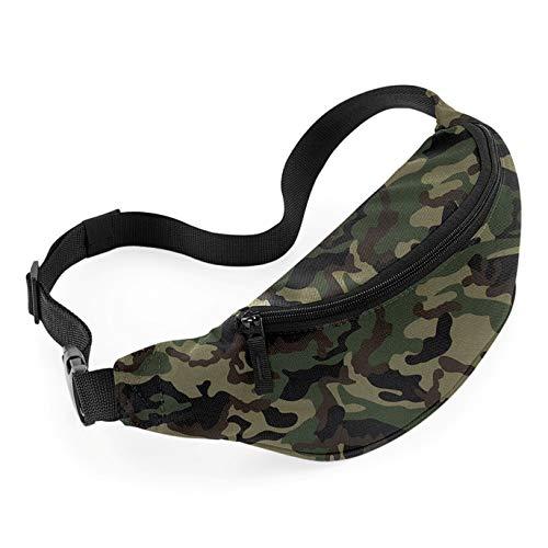 (Bagbase Adjustable Belt Bag (2.5 Liters) (One Size) (Jungle Camo))