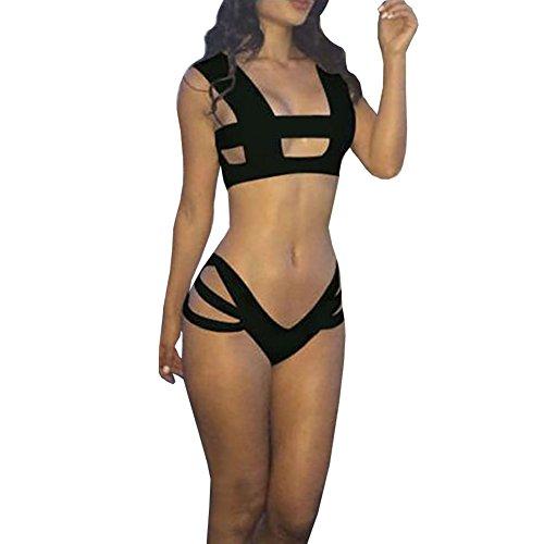 Janecrafts Women's Sexy Bandage Cut-out Bikini Bathing Suit Swimsuit Swimwear